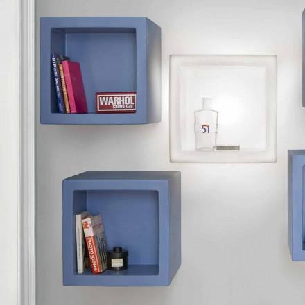 Modernes Design farbiges Würfelregal Slide Open Cube, hergestellt in Italien