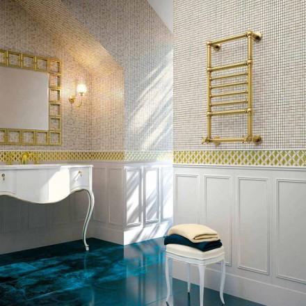 Elektrischer Handtuchwärmer Scirocco H Amira aus Messing goldfarben made in Italy