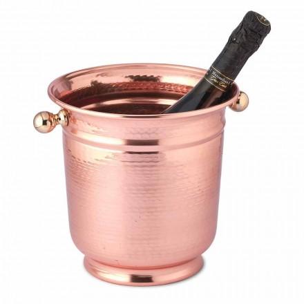 Ice Bucket Wine Design aus poliertem Kupfer oder Grün 20 cm - Gennarino
