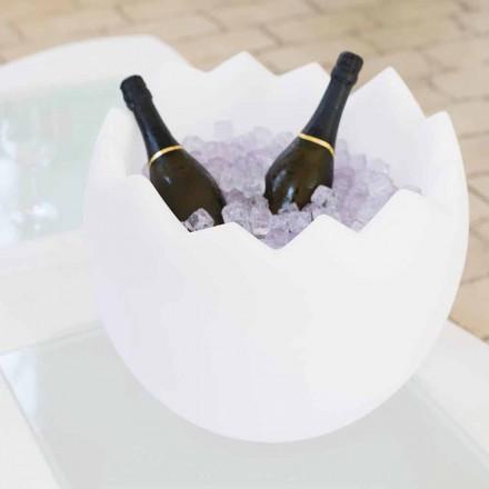 Strahlend weißer Eiskübel Slide Kalimera, zu 100% in Italien produziert