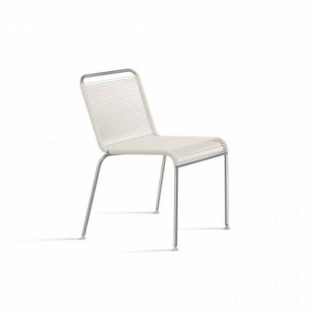 White Design Outdoor Stuhl aus Stahl und PVC Made in Italy - Madagaskar