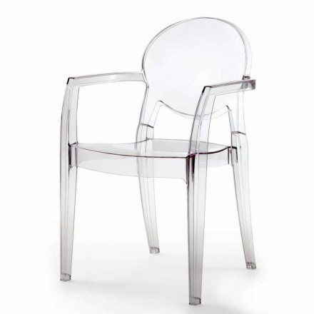 Stuhl mit Armlehnen aus Polycarbonat in modernem Design - Dalila