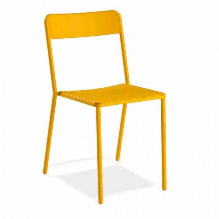 Metallstuhl Stapelbarer im Freien Hergestellt in Italien, 4 Stück - Xylia
