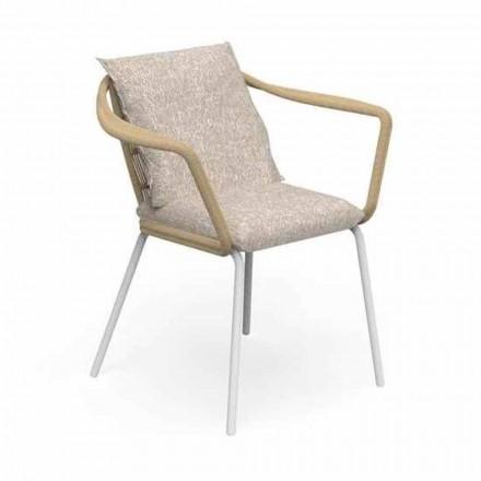 Gartenstuhl mit modernem Design aus Aluminium und Stoff - Cruise Alu Talenti