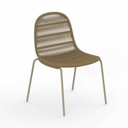 Gartenstuhl mit modernem Design aus Aluminium und Stoff - Panama von Talenti