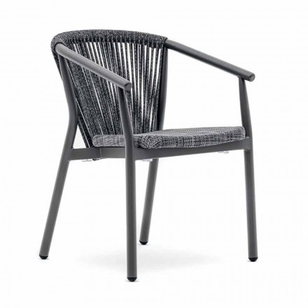 Stapelbarer Gartenstuhl aus Aluminium und technischem Stoff - Smart By Varaschin