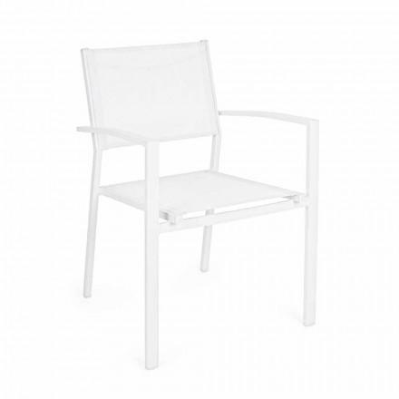 Stapelbarer Gartenstuhl in modernem Design aus Aluminium und Textil - Franz