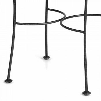 Stapelbarer Gartenstuhl aus Graphiteisen Made in Italy, 2 Stück - Catrina