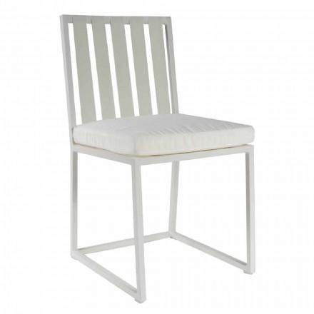 Outdoor Dining Chair in Aluminium und Luxus Design Rope 3 Oberflächen - Julie
