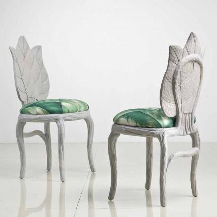 Gepolsterter Esszimmer Stuhl in modernem Design, made in Italy, Daniel