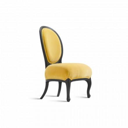 Gepolsterter Esszimmer Stuhl aus massivem Nussbaumholz, 67x60 cm Tati