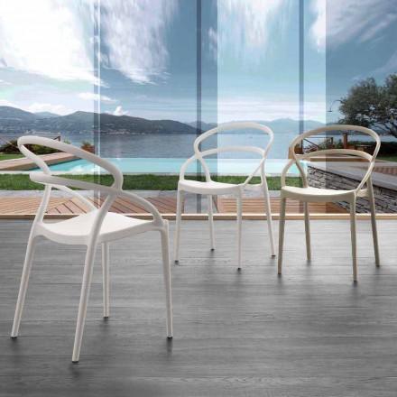 Stuhl aus Polypropylen Pavia, in verschiedenen Farben