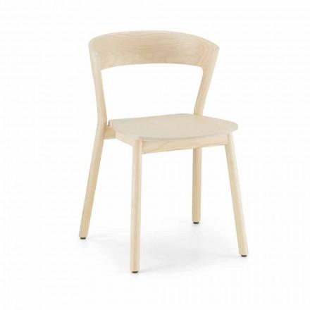 Hochwertiger Stuhl aus Eschenholz Made in Italy, 2 Stück - Oslo