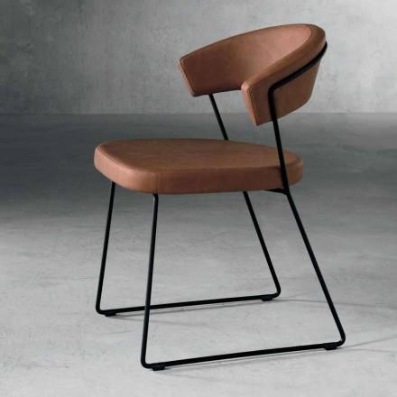 Design Stuhl aus Textil und Metall made in Italy, Formia