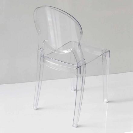 Design Stuhl aus Polycarbonat in 2 verschiedenen Farbe - Dalila