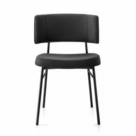 Luxus Stoff Stuhl mit Metallbasis Made in Italy, 2 Stück - Alaska