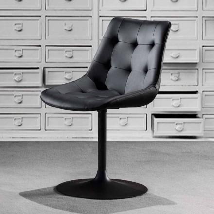 Drehsessel mit Sitzfläche aus Kunstleder Capitonnè - Aura