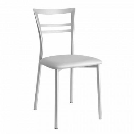 Gepolsterter moderner Design-Küchenstuhl Made in Italy, 2 Stücke - Go