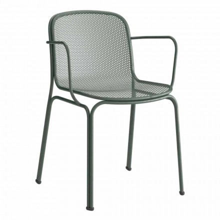 Outdoor Metallstuhl Stapelbarer Made in Italy, 4 Stück - Verna