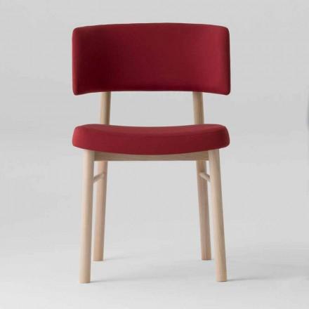 Samtstuhl mit Sockel aus bemalter Esche Made in Italy, 2 Stück - Alaska