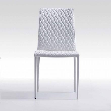Moderner Stuhl komplett mit Kunstleder bezogen made in Italy Afra
