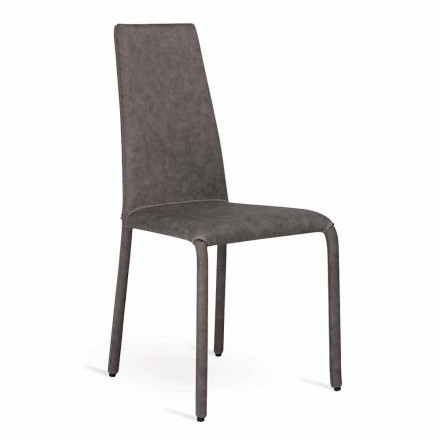 <strong>Sedia living rivistita in ecopelle fatta in Italia, Gazzola</strong><br /> Gazzola &egrave; una sedia moderna con una struttura in metallo completamente rivestita in ecopelle.<br /> Grazie al suo design raffinato ed elegante sar&agrave; perfetta p