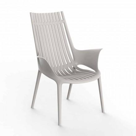 Loungesessel mit Armlehnen für den Außenbereich aus Kunststoff 4 Stück - Ibiza von Vondom