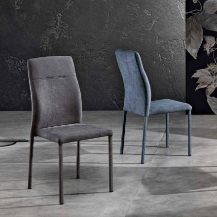 Designstuhl aus Stoff für Esszimmer made in Italy, Luigina