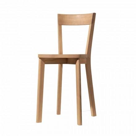 Esszimmerstuhl aus Esche und Massivholz Made in Italy - Alima