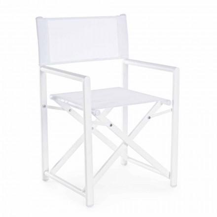 Modern Design Garden Director Stuhl aus Aluminium für den Außenbereich - Cameo