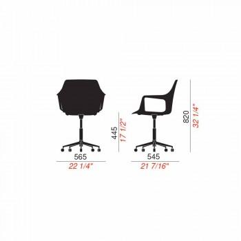 Bürostuhl aus Aluminium und Polypropylen Hergestellt in Italien, 2 Stück - Charis