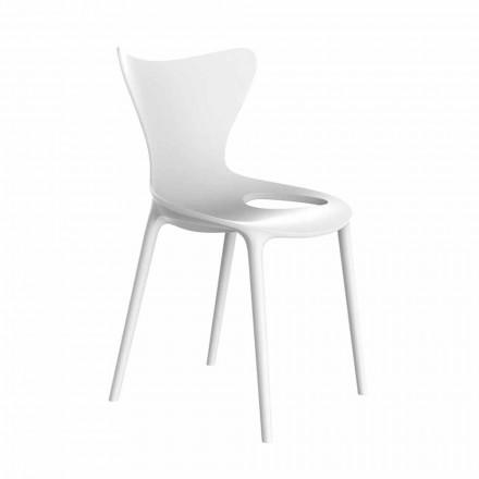 Stapelbare Design-Gartenstühle aus Polypropylen 4-teilig - Love by Vondom