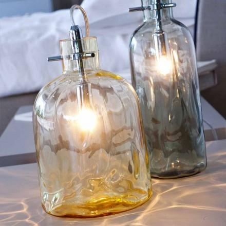 Selene Bossa Nova Tischlampe Ø15H21cm geblasenes Glas, Bernsteinfarben