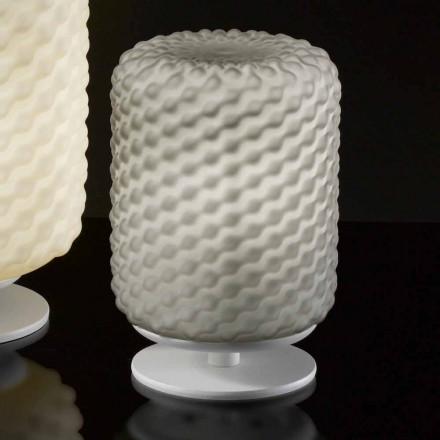 Selene Domini Tischlampe Ø15 H22cm, handgemachtes geblasenes Glas