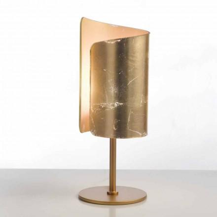 Selene Papiro Tischlampe aus Kristall, Ø15 H38cm modernes Design