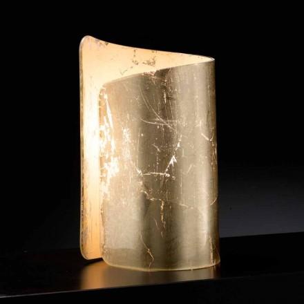 Selene Papiro Tischlampe aus Kristall made in Italy 15x14xH25 cm