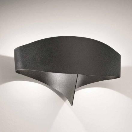 Selene Scudo Wandleuchter aus lackiertem Stahl in modernem Design