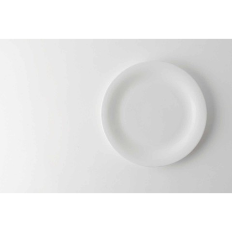 24 elegante Teller im weißen Porzellandesign - Doriana