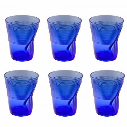 Farbiges Glas Wassergläser Service 12 Stück Besonderes Design - Sarabi