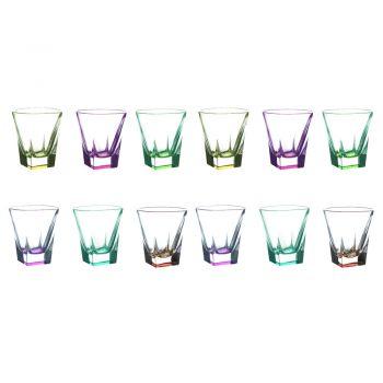 12 Stk. Eco farbige Kristall-Likörgläser Service - Amalgam