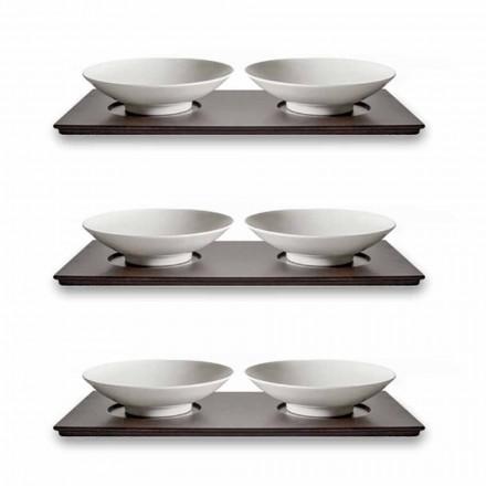 Kleine Tassen Service mit Holztablett Modern Elegant Design 9 Stück - Flavia