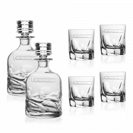 Ökologischer Crystal Whisky Service mit personalisiertem Logo - Titan