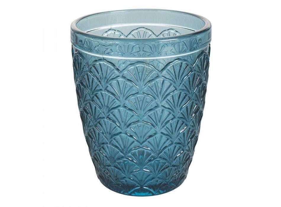 12-teiliges Wasserglasservice aus farbigem Glas - Artemisia