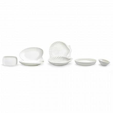 Serviergeschirr aus weißem Porzellan Set 30 Stück - Nalah