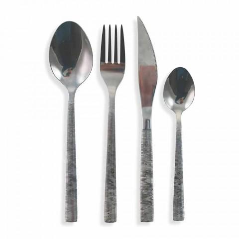 Besteckset 24 Stück Modernes Komplettdesign aus Stahl - Rigatopos