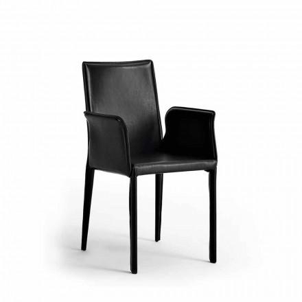 Stühle mit Stahlkonstruktion aus Leder - Modernes Design Jolie