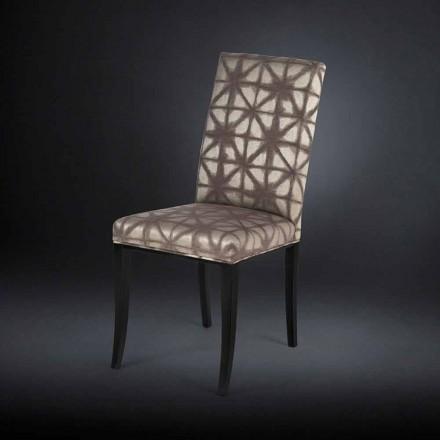 Moderner Stuhl im 2er Set mit schwarzen Holzbeinen Audrey