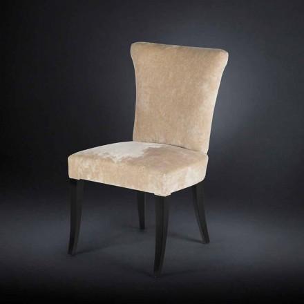 Stuhl im 2er Set im Belle Epoque Stil gepolstert Ecru Dita