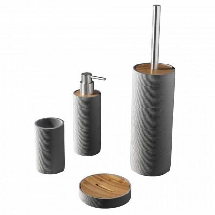 Set Arbeitsplatten-Badezimmerzubehör in Weiß oder Grau - Fox Resin