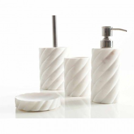 Badezimmeraccessoires-Designset aus Calacatta-Marmor Monza